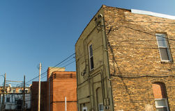 Generic brick buildings. Generic brick buildings in small Midwest town.  LaSalle, Illinois Stock Photography