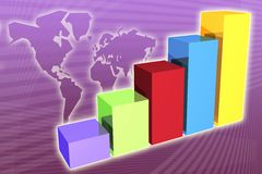 Generic Business Growth and Su. Ccess background for presentations stock illustration