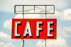 Generic Cafe Sign Stock Photo