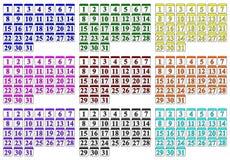 Generic Calendars. An set of generic calendars Stock Photos