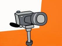 Generic Camera on Tripod  Illustration Stock Images