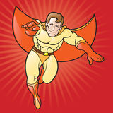 Generic Cartoon Super Hero Stock Image