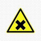 Warning sign Vector illustration. Generic caution Warning sign. Hazard symbols Royalty Free Stock Photos