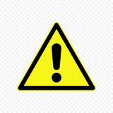 Warning sign Vector illustration. Generic caution Warning sign. Hazard symbols Stock Image