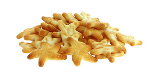Generic Cheese Star Crackers Royalty Free Stock Photography