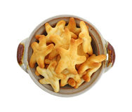 Generic Cheese Star Crackers Stock Image