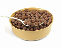 Generic Chocolate Cereal in Bowl Royalty Free Stock Image