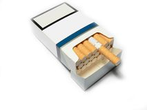 Generic cigarettes pack. On white background Stock Images
