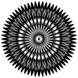 Generic circular motiff, mandala. Abstract grayscale geometric e Stock Images