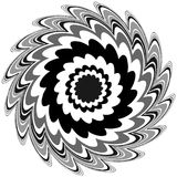 Generic circular motiff, mandala. Abstract grayscale geometric e Stock Image