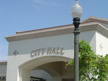 Generic City Hall. South side of Buena Park City Hall, California Royalty Free Stock Images