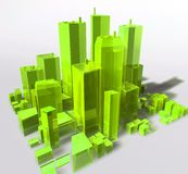 Generic city illustration Stock Photo
