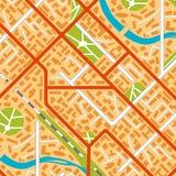 Generic city map background. Stock Photos