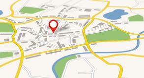 A generic city map with a pin vector illustration