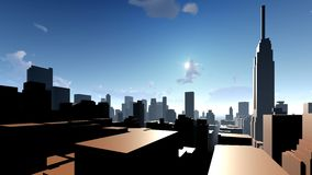 Generic cityscape architecture 3d rendering Royalty Free Stock Photography