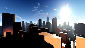 Generic cityscape architecture 3d rendering Stock Photography