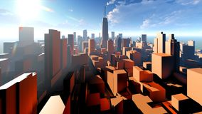 Generic cityscape architecture 3d rendering Royalty Free Stock Photos