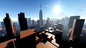 Generic cityscape architecture 3d rendering Stock Image