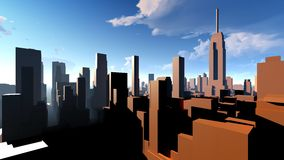 Generic cityscape architecture 3d rendering Stock Photo