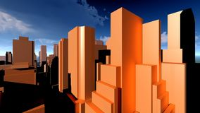 Generic cityscape architecture 3d rendering Stock Images