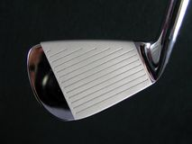 Generic Clean Shiny Polished Golf Club Iron Head Closeup Image Royalty Free Stock Photography