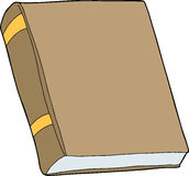 Generic Closed Book. Generic brown book with blank cover on isolated background vector illustration