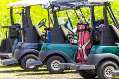 Generic club car golf carts Royalty Free Stock Image