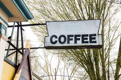 Generic Coffee Sign at Cafe Stock Images