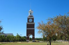 College Clock Tower royalty free stock photography