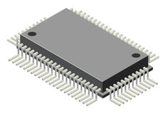 Generic computer microchip Royalty Free Stock Photos