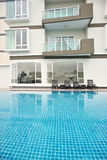 Generic Condominium outdoor with swimming pool Royalty Free Stock Images