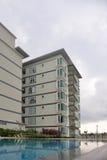 Generic Condominium outdoor with swimming pool Stock Photo