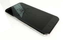 Generic Cracked Smart Phone Royalty Free Stock Photo