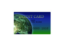 Generic Credit Card Illustration 3D Royalty Free Stock Photos