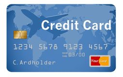 This is a generic credit card illustration. Logos and type are all generic royalty free illustration