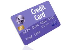 This is a generic credit card illustration. Logos and type are all generic vector illustration