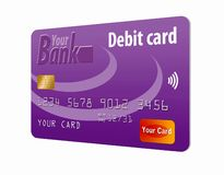 This is a generic debit card. stock illustration