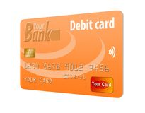 This is a generic debit card. royalty free illustration