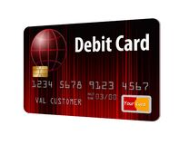 This is a generic debit card. It is an illustration isolated on the background vector illustration
