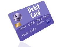 This is a generic debit card. It is an illustration isolated on the background royalty free illustration