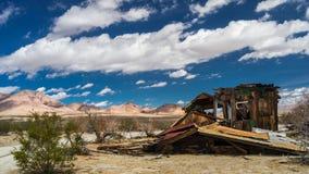 Generic Desert Scene. Generic arid desert scene together with cumulus clouds above royalty free stock photos