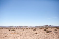 Generic desert scene with clear blue sky Stock Photo