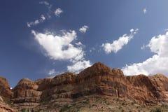 Generic Desert Scene. Generic arid desert scene together with cumulus clouds above stock photography