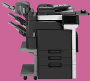 Generic digital printer. With removable background Stock Photos