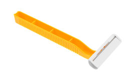 Generic disposable razor on a white background Royalty Free Stock Image