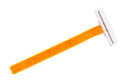 Generic disposable razor on a white background Stock Photo