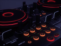 Generic DJ Console. 3D image of a generic DJ console stock illustration