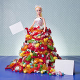 Generic Doll Bride and Candy Pile Stock Images