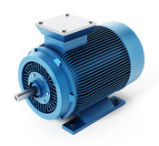 Generic electric motor isolated on white background. 3D illustration Royalty Free Stock Images