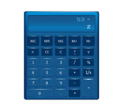 A generic electronic calculator illustration Royalty Free Stock Photography